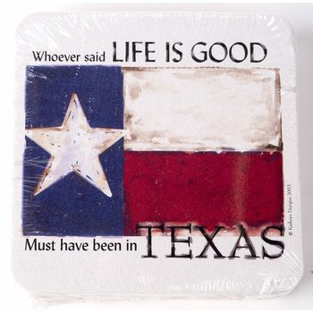 TEXAS LIFE IS GOOD COASTER PACK/10
