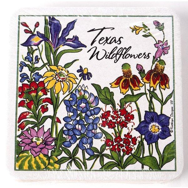 Wildflowers of Texas Coasters - Pack of 4