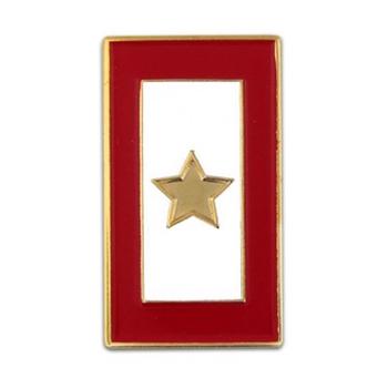 Americana Gold Star Service Flag Lapel Tac Pin