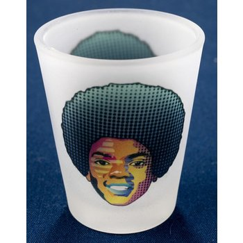Michael Jackson Frosted Shotglass