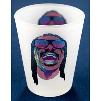 Stevie Wonder Frosted Shotglass