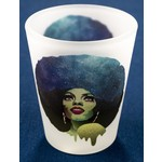 Diana Ross Frosted Shotglass