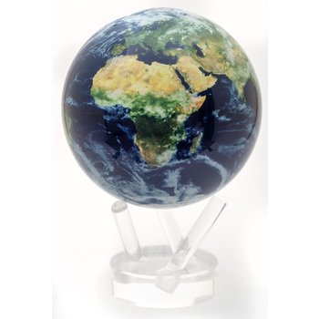 "Earth W/Clouds 4.5"" Globe w/Acrylic Base"