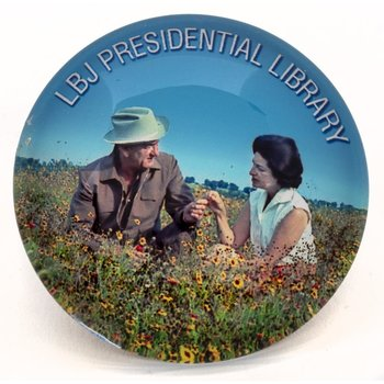 LBJ & Lady Bird in Wildflowers Magnet