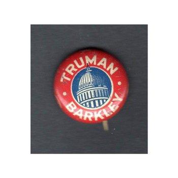 Truman Barkley 1948 Campaign Button