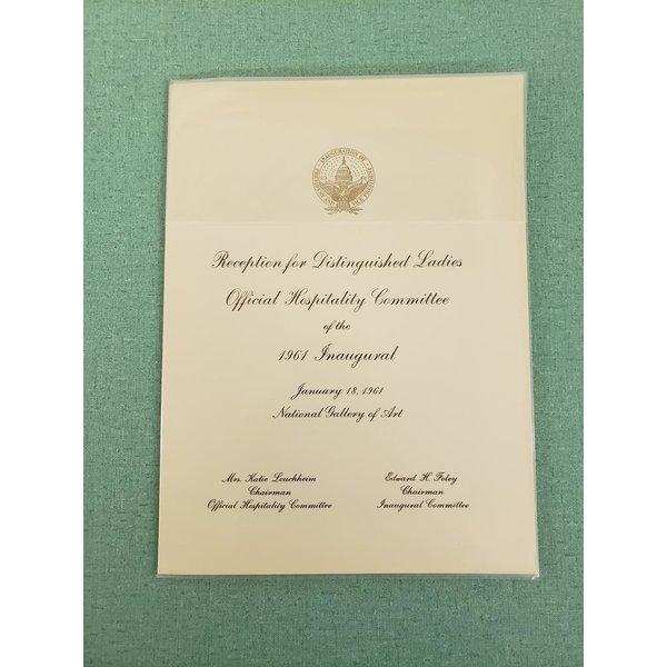 Lady Bird Reception for Distinguished Ladies 1961 Inaugural Invitation
