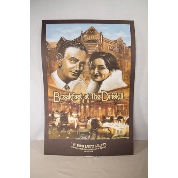 BREAKFAST AT THE DRISKILL - AUTOGRAPHED BY LADY BIRD - POSTER