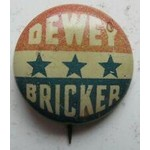 1944 Dewey Bricker Presidential Campaign Button
