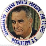 All the Way with LBJ Original 1965 LBJ Inauguration Button