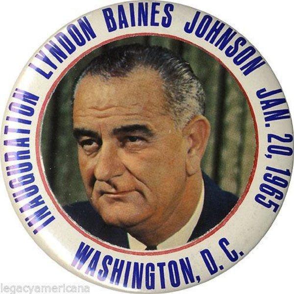 Original 1965 LBJ Inauguration Button