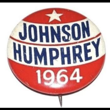 """Johnson Humphrey 1964"" Campaign Button"