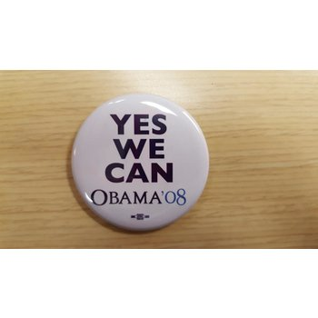 """Yes We Can"" Obama '08 Campaign Button"