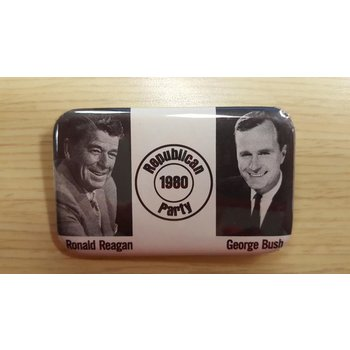 Republican 1980 Party Reagan Bush campaign button