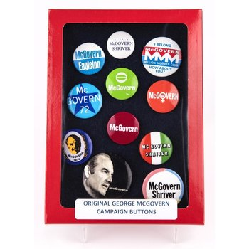 George McGovern Campaign Button Collection