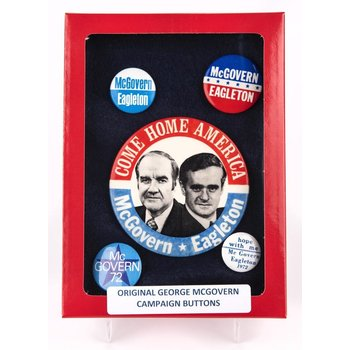 McGovern Eagleton Campaign Button Collection