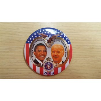Obama & Biden Stars & Stripes 2008 Campaign Button