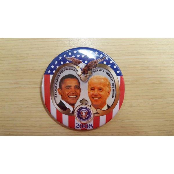 Obama & Biden Stars & Stripes 2008 Campaign Button