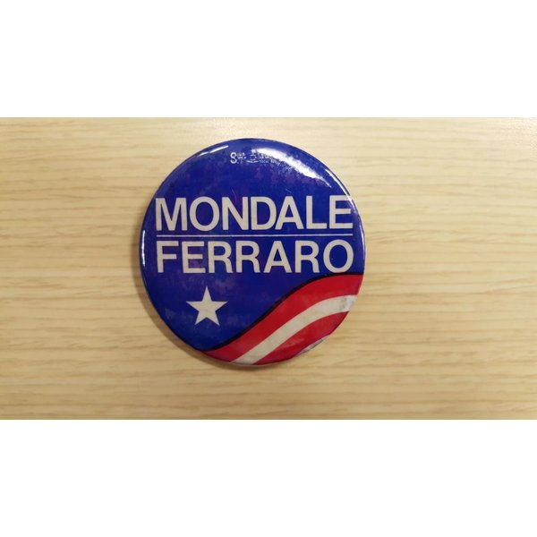 Mondale Ferraro Star & Stripes Campaign Button