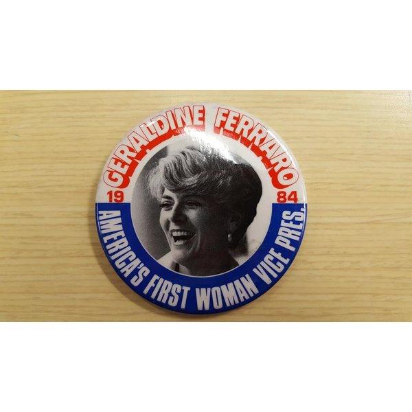 Geraldine Ferraro 1984 Campaign Button