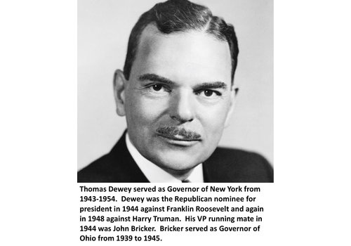 Thomas Dewey Items