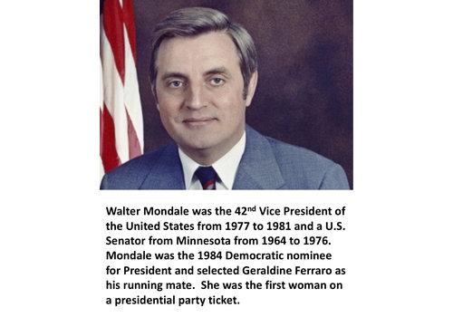 Walter Mondale Items