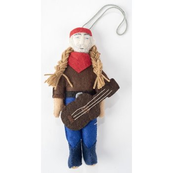 Austin & Texas Willie Nelson Felt Ornament
