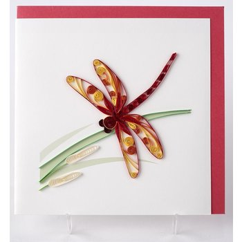 Lady Bird Dragonfly Quilling Card