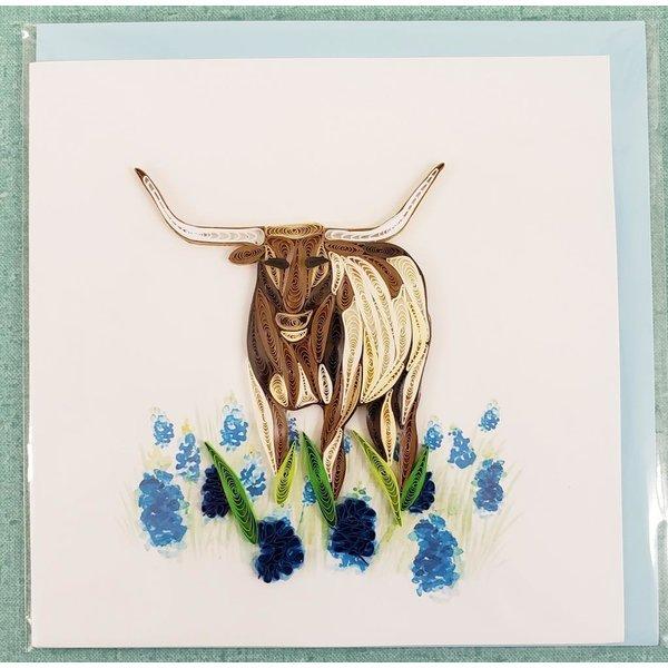 Lady Bird Longhorn Quilling Card