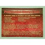 All the Way with LBJ Lady Bird's Chili Recipe Postcard