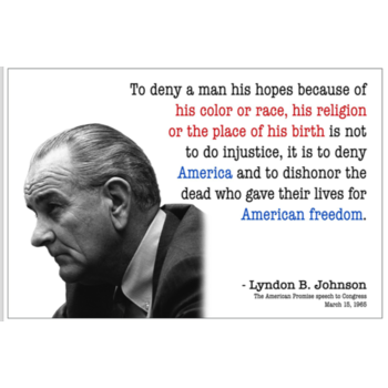 All the Way with LBJ To Deny A Man Postcard