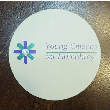"Set of 2 ""Young Citizens for Humphrey"" campaign stickers"