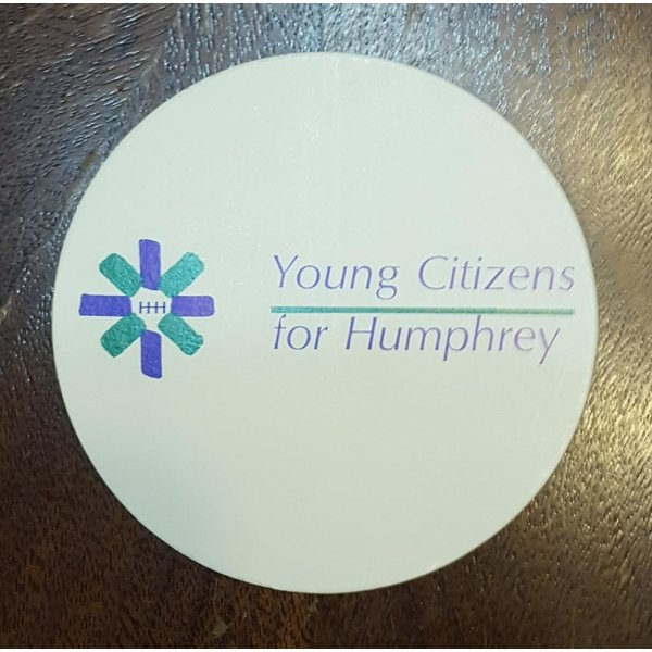 """Set of 2 """"Young Citizens for Humphrey"""" campaign stickers"""