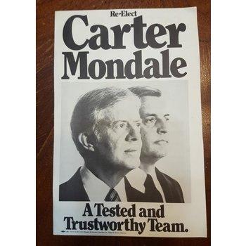 Re-Elect Carter Mondale Campaign Flyer