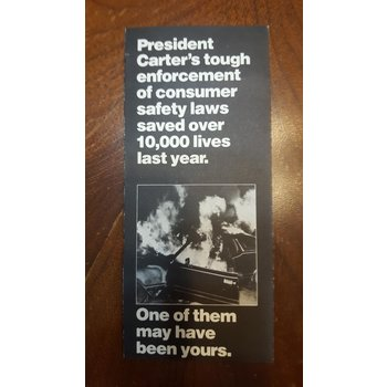 President Carter Consumer Safety Campaign Pamphlet