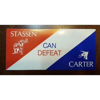 Stassen Can Defeat Carter Campaign Flyer