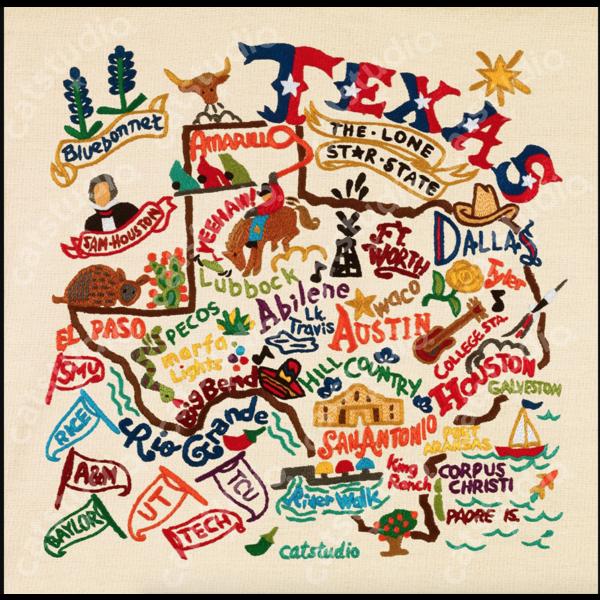 Austin & Texas Texas Art Print 10x10