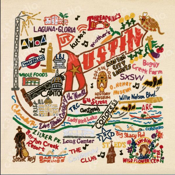 Austin & Texas Austin Art Print 10x10