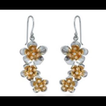 Cherry Blossom Triple Drop Earrings