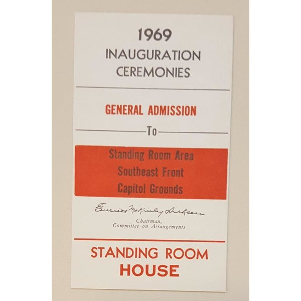 1969 Inauguration Ticket with Richard Nixon Portrait