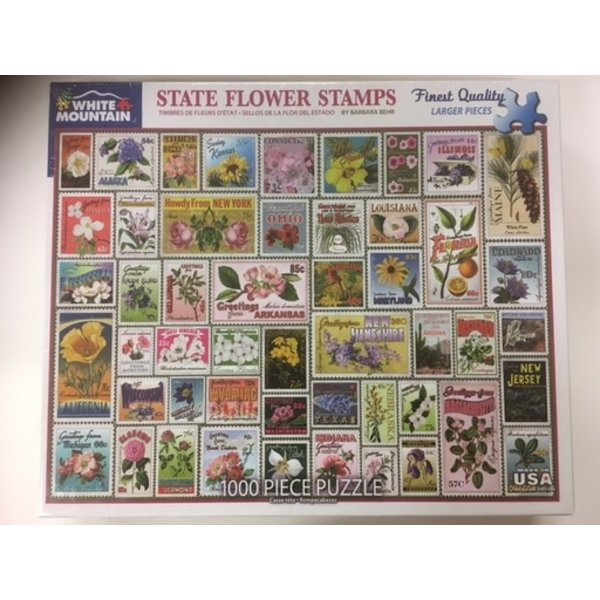 Lady Bird State Flower Stamps 1000 pc Puzzle