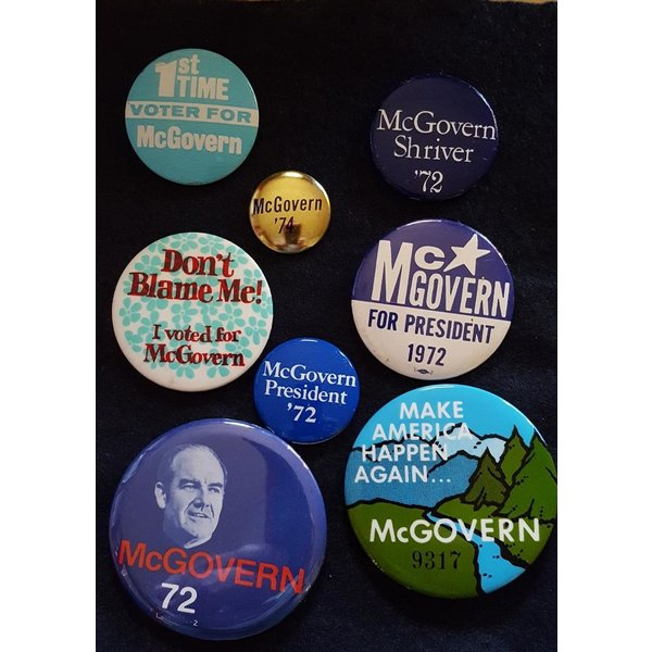 George McGovern Campaign Button Collection 2