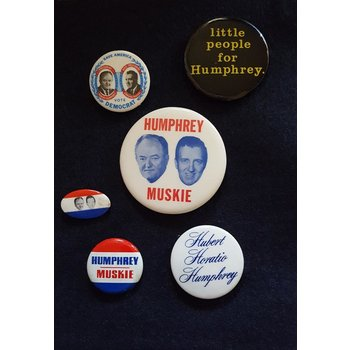 Hubert Humphrey Campaign Buttons Collection