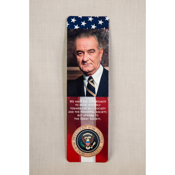 All the Way with LBJ LBJ & Library Photo Bookmark