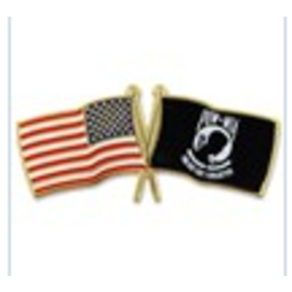 Americana USA crossed MIA/POW Flag Lapel Pin