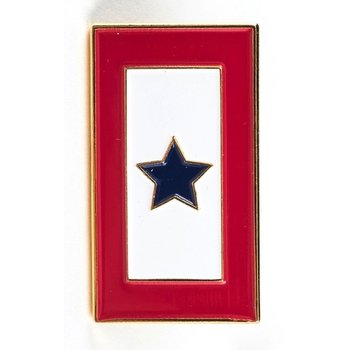 Americana Blue Star Service Flag Lapel Tac Pin