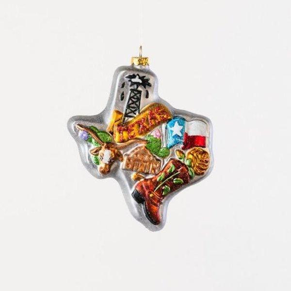 Austin & Texas Texas Shaped Glass Ornament