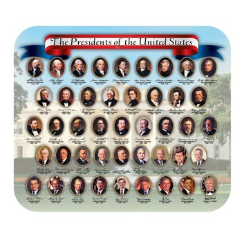 Americana Presidents Mousepad