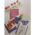 Lady Bird So Grateful Bookmark w/Tea