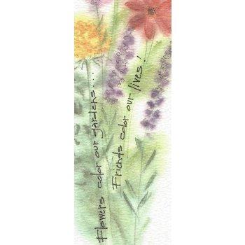 Lady Bird Friends Bookmark w/Tea