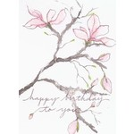 Lady Bird Magnolia Birthday Card